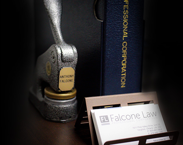Falcone Law notary stamp